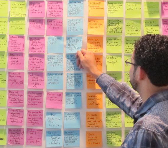 working on the product journey mapping process
