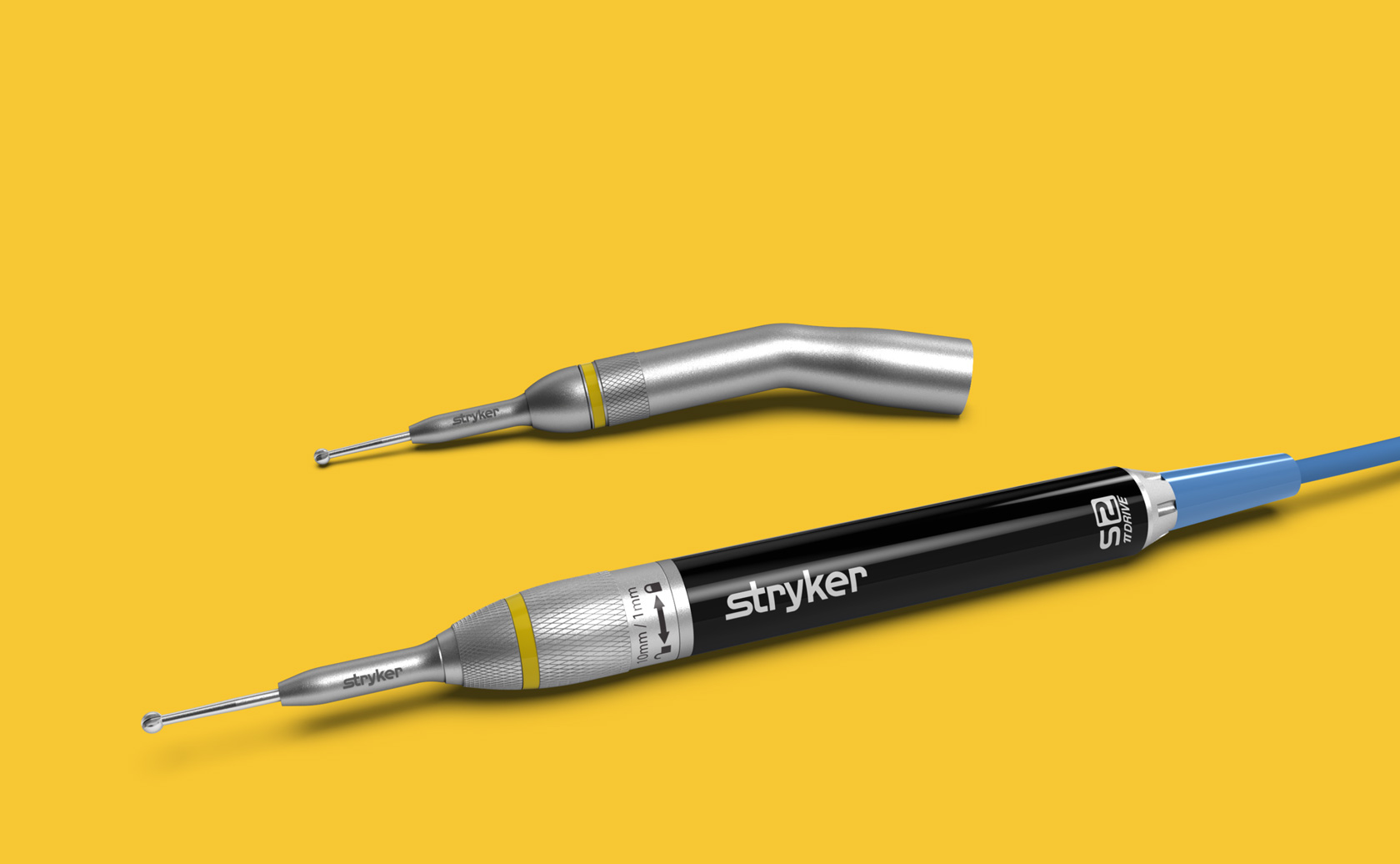 Stryker S2 drill with angled tip option